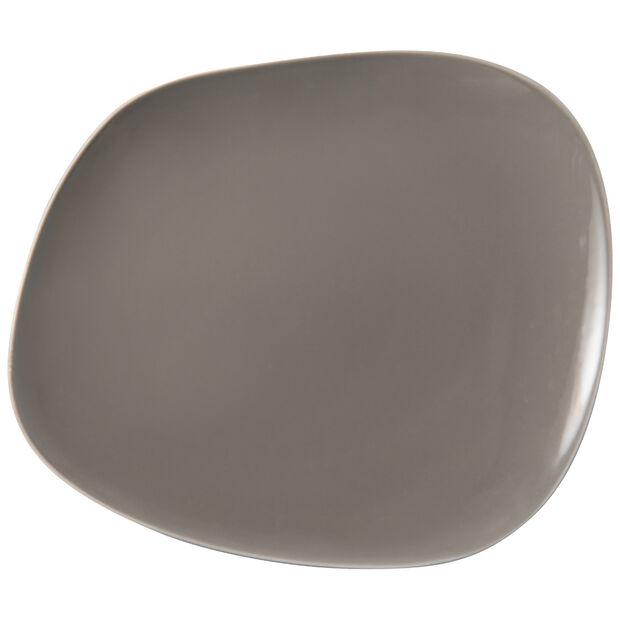 Organic Taupe plato llano, marrón topo, 28 x 24 x 3 cm, , large