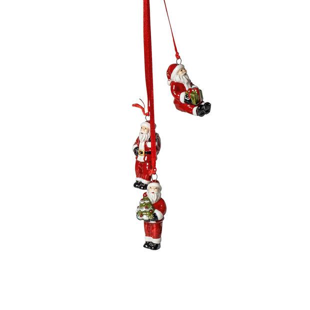 My Christmas Tree Trio di ornamenti Babbo Natale 21cm, , large