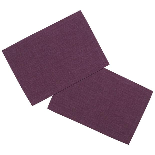 Textil Uni TREND Tovaglietta viola 2 pz. 35x50cm, , large