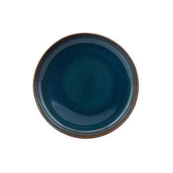 Crafted Denim piatto fondo, blu, 21,5 cm