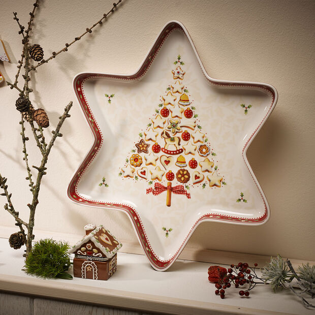 Winter Bakery Delight Bol estrella grande 37,5x33cm, , large