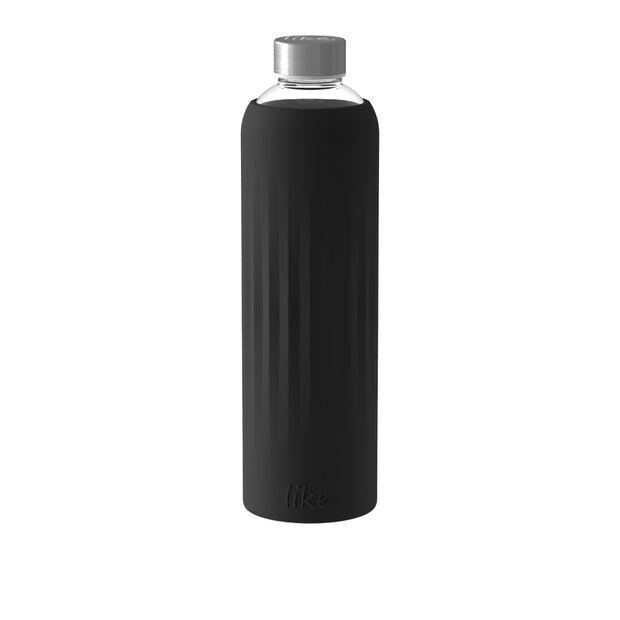 ToGo&ToStay borraccia in vetro, 1l, con rivestimento in silicone, nero, , large
