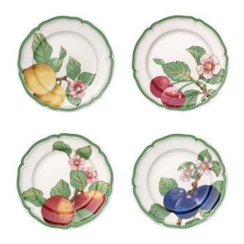 French Garden Modern Fruits set de 4 platos llanos