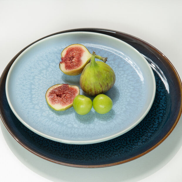 Crafted Blueberry plato para desayuno, turquesa, 21 cm, , large