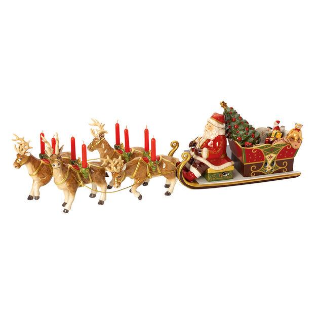 Christmas Toys Memory Santa Paseo en trineo 22x70x16cm, , large