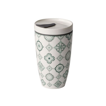 Modern Dining To Go Jade taza grande de café para llevar