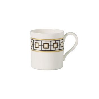 MetroChic tazza da caffè, 210 ml, bianco-nero-oro