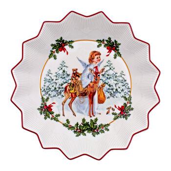 Toy's Fantasy ciotola grande Gesù bambino, multicolore/rossa/bianca, 24 x 24 x 4,5 cm