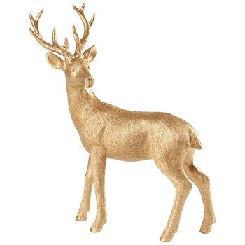 Winter Collage Accessoires Cervo in piedi oro 22cm