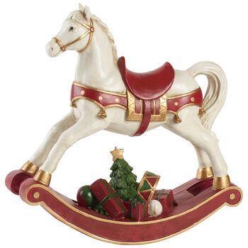 Winter Collage Accessoires Cavallo a dondolo XL 32,8x10,8x32,5cm
