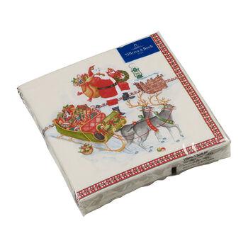 Winter Specials tovagliolo da pranzo, motivo Babbo Natale, multicolore, 20 pezzi, 33 x 33 cm