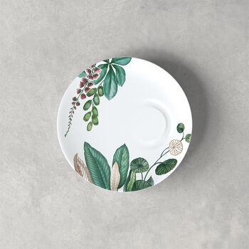 Plato para taza espresso Avarua, 14,5cm, blanco/multicolor