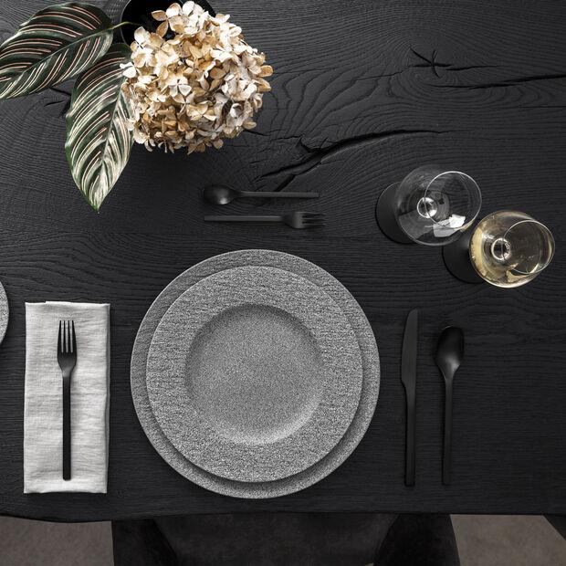 Manufacture Rock posate da tavola, per 4 persone, 16 pezzi, nero, , large