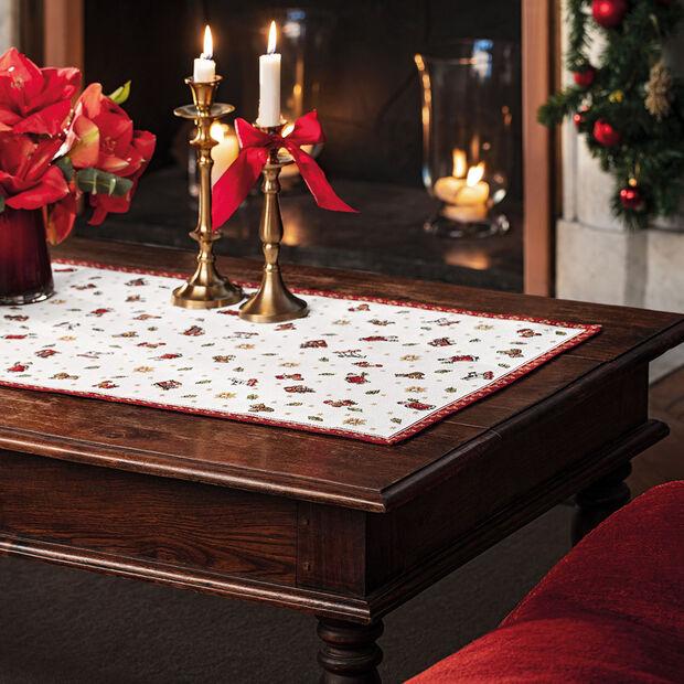 Toy's Delight camino de mesa XL de tapiz, rojo/varios colores, 49 x 143cm, , large