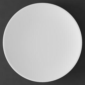 MetroChic blanc piatto segnaposto e piatto da torta, diametro 33 cm, bianco
