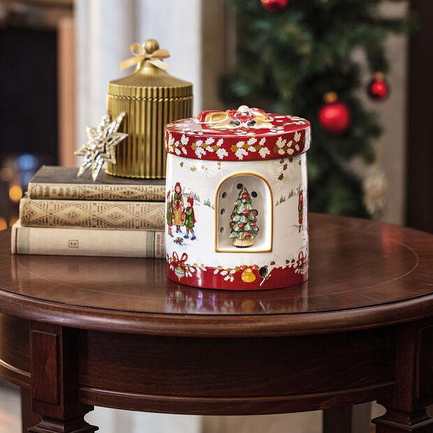 Christmas Toys Caja regalo grande redonda, niños 17x17x20cm, , large