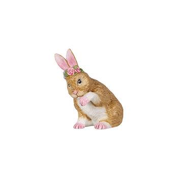 Easter Bunnies Coniglietto picc c si lava c ghirl fiori 9x5,5x10cm