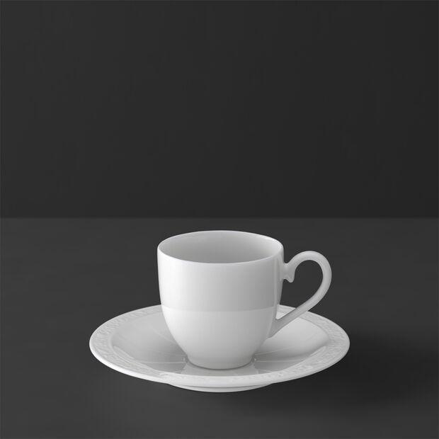 White Pearl Tazza espresso con piattino 2pz., , large