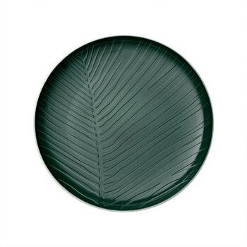 it's my match Green piatto Leaf