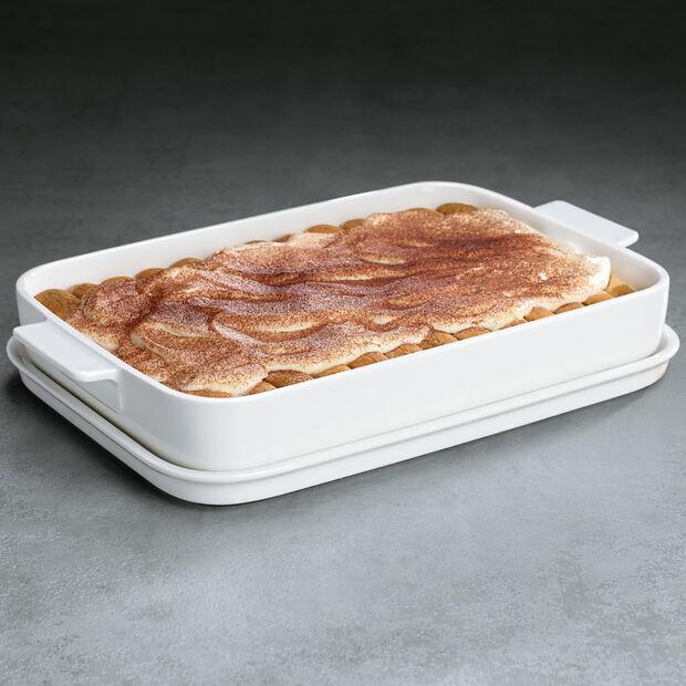 Clever Cooking Teglia con coperchio, rettangolare 34x24cm, , large