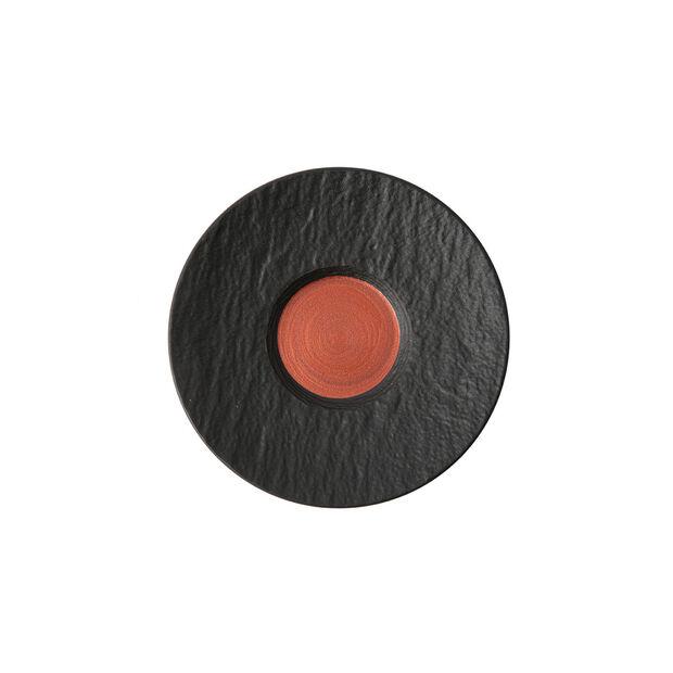 Manufacture Rock Glow piattino per tazza da caffè, rame/nero, 15,5 x 15,5 x 2 cm, , large