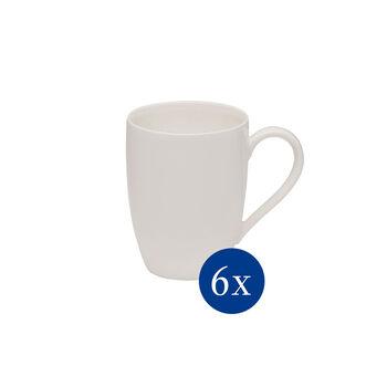 Basic White tazza con manico, 6 pezzi EC