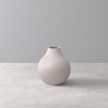 Manufacture Collier vaso, 11x12cm, perla, beige