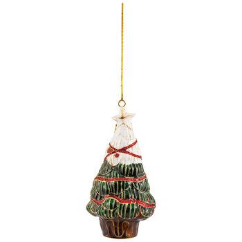 Winter Collage Accessoires pendente di metallo albero di Natale, multicolore, 12 cm