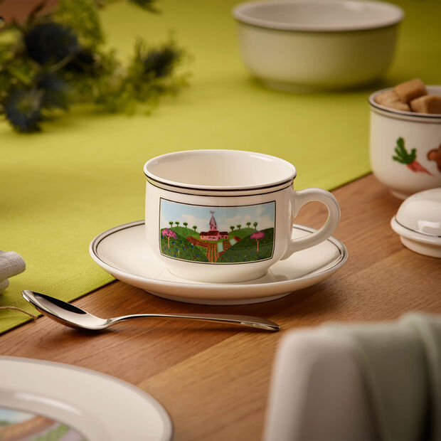 Design Naif Tazza tè con piattino 2pz., , large