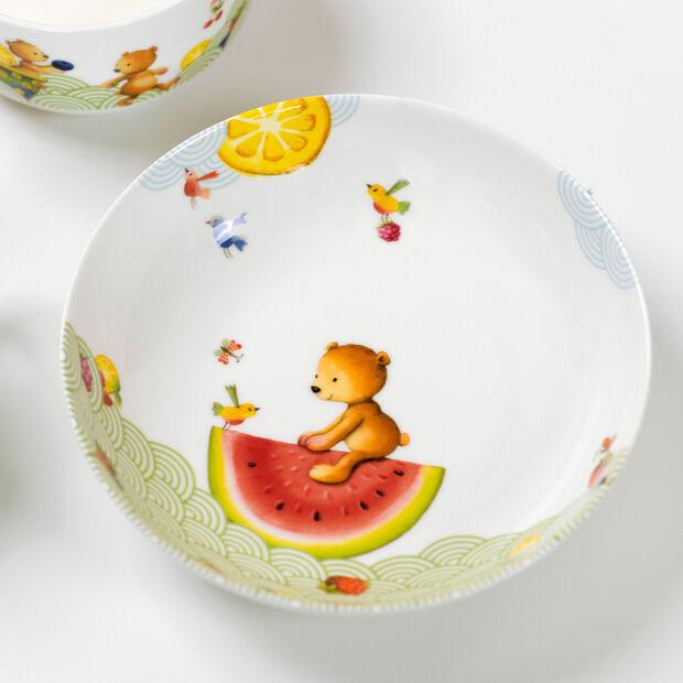 Hungry as a Bear Piatto fondo bambini 18,5x18,5x4,5cm, , large