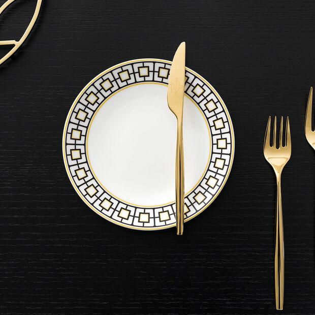 MetroChic piatto da pane, bianco-nero-oro, , large
