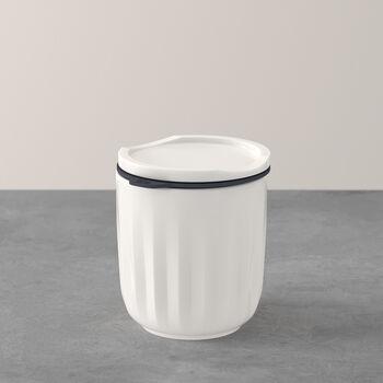 To Go & To Stay bicchiere, con coperchio, 300ml, bianco
