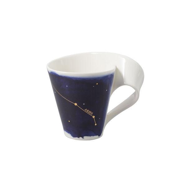 NewWave Stars taza con motivo de Aries, 300 ml, azul/blanco, , large