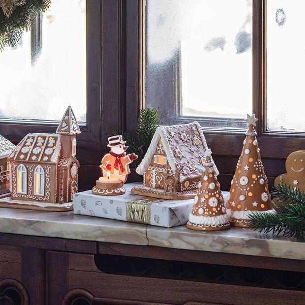 Winter Bakery Decoration Pupazzo di neve di pan di zenzero 7x7x11cm, , large