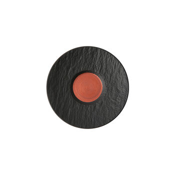 Manufacture Rock Glow piattino per tazzina da espresso, rame/nero, 12 x 12 x 2 cm