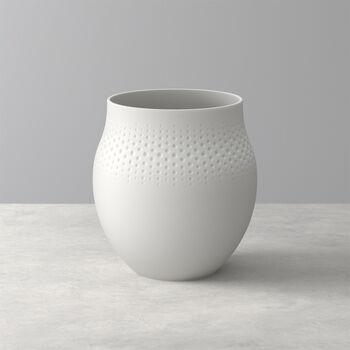 Manufacture Collier blanc Vaso Perle grande 16,5x16,5x17,5cm