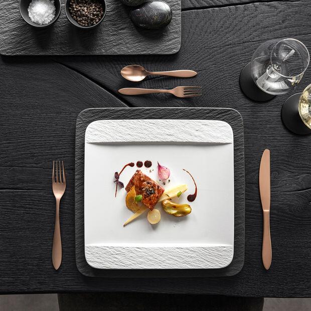 Manufacture Rock Blanc piatto piano rettangolare, bianco, 28 x 28 x 2 cm, , large
