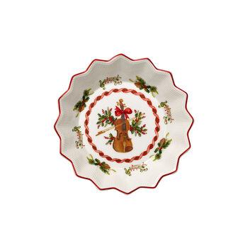 Toy's Fantasy ciotola piccola motivo violino, rosso/variopinto, 17 x 17 x 3 cm