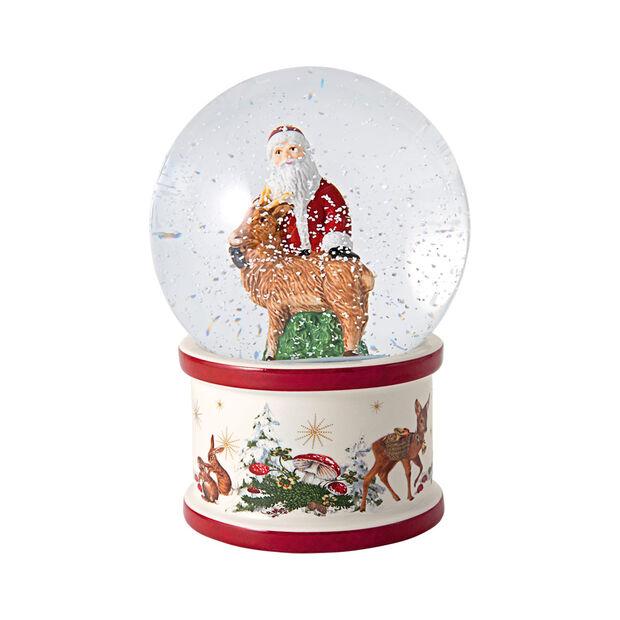 Christmas Toys bola de nieve grande con Papá Noel y ciervo, 13 x 13 x 17 cm, , large