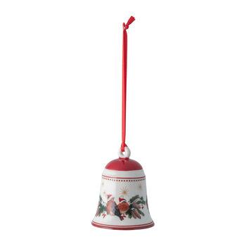 My Christmas Tree campana con motivo de animales del bosque, 5,5 x 5,5 x 6,9 cm