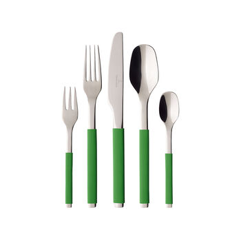S+ Green Apple posate da tavola 30 pezzi