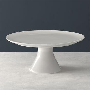 For Me piatto da torta con base, bianco, 30 x 30 x 13 cm