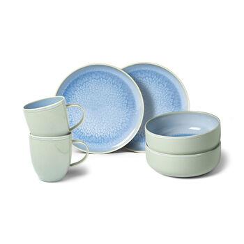 Crafted Blueberry set de desayuno, turquesa, 6 piezas
