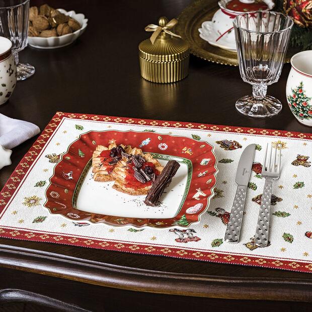 Toy's Delight plato rectangular de desayuno, rojo/varios colores, 24 x 24cm, , large