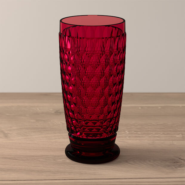 Boston Coloured Bicchiere per long drink Red, , large