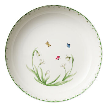 Colourful Spring insalatiera grande , 5,2 l, bianco/verde
