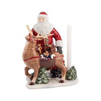 Christmas Toys Memory figura de Papá Noel con ciervo, 30 x 24 x 35 cm