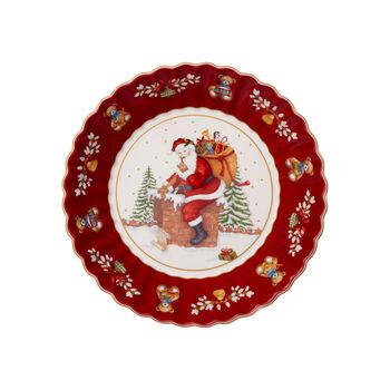 Toy's Fantasy ciotola grande motivo Babbo Natale sul tetto, rosso/multicolore, 25 x 25 x 5 cm