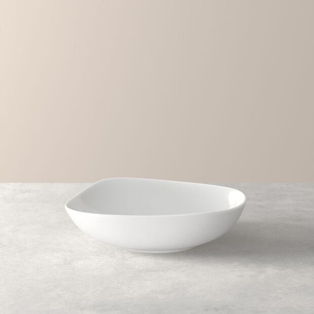 Organic White piatto fondo, bianco, 20 cm, , large
