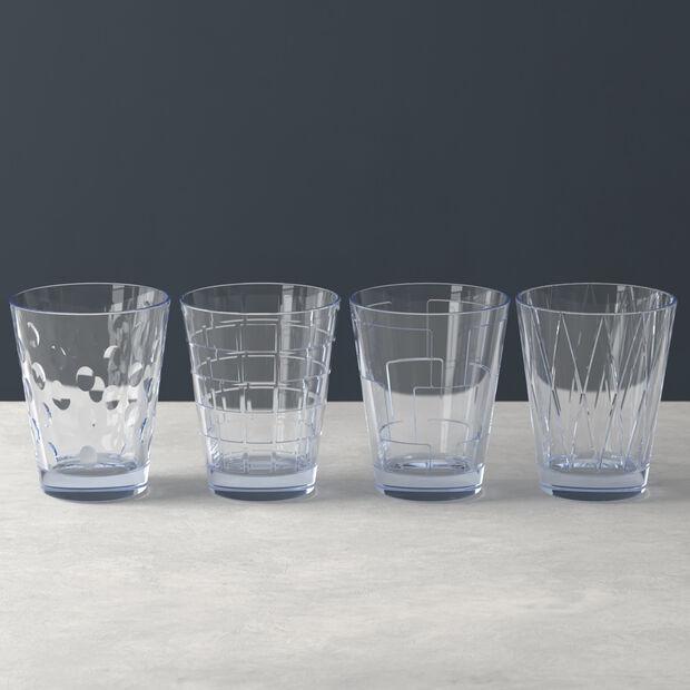 Dressed Up set di bicchieri da acqua Blue 4 pezzi, , large